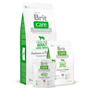 BRIT CARE Adult Large Breed Salmon&Potato begrūdis s.m.