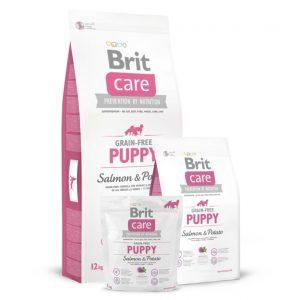 Brit Care Puppy Salmon&Potato begrūdis sausas maistas šunims