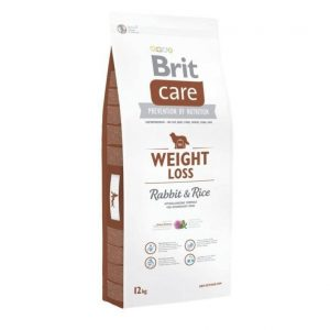 BRIT CARE Weight Loss Rabbit&Rice sausas maistas šunims