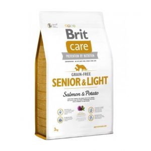BRIT CARE Senior&Light Salmon&Potato begrūdis s. m. šunims