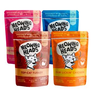MEOWING HEADS konservai katėm RINKINYS, 10 x 100g