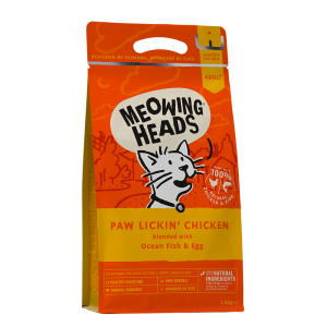 MEOWING HEADS PAW LICKIN' CHICKEN katėms