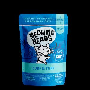 MEOWING HEADS konservai katėm SUPURR SURF&TURF 100g