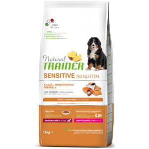 Trainer Sensitive PUPPY M/M No Gluten SALMON jauniems (Lašiša)