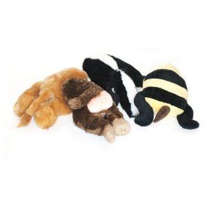 Žaislas šunims pliušinis gyvūno užpakaliukas, 20 cm