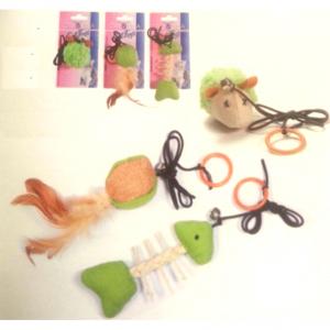 Žaislas katei su virvele įvairūs