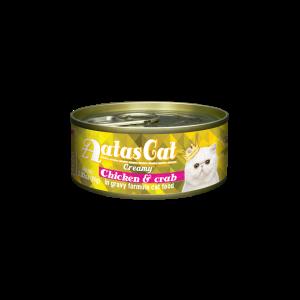 Aatas konservai katėms Creamy Chicken&Crab, 80g