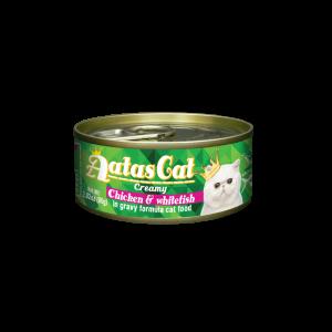 Aatas konservai katėms Creamy Chicken&Whitefish, 80g