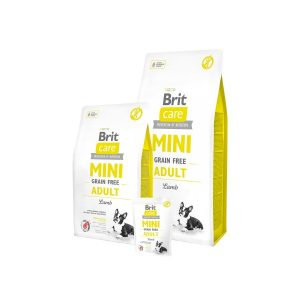 Brit Care Mini Adult Lamb begrūdis, hipoalerginis sausas m.