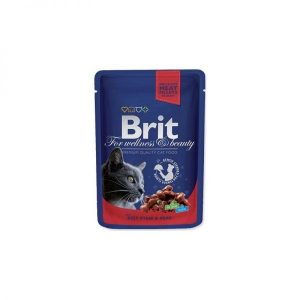 Brit Premium konservai katėms maiš. Beef Stew&Peas 100g