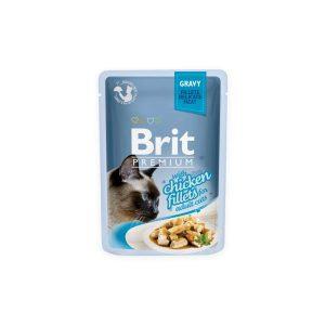 Brit Premium Cat Delicate konservai katėms maiš. Chicken in Gravy 85g