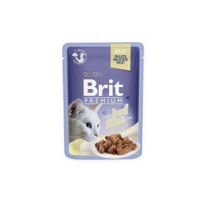 Brit Premium Cat Delicate konservai katėms maiš. Beef in Jelly 85g