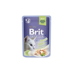 Brit Premium Cat Delicate konservai katėms maiš. Trout in Jelly 85g