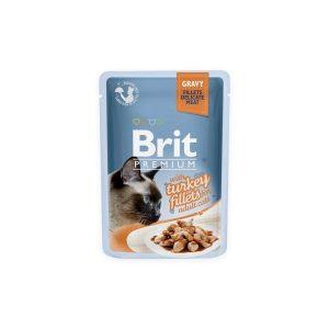 Brit Premium Cat Delicate konservai katėms maiš. Turkey in Gravy 85g