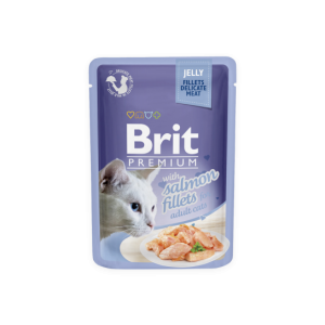 Brit Premium Cat Delicate konservai katėms maiš. Salmon in Jelly 85g