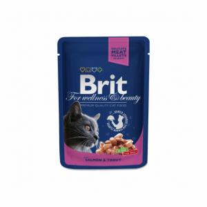 Brit Premium konservai katėms maiš. Salmon&Trout 100g
