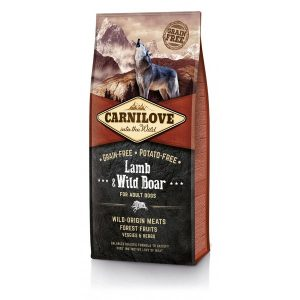 CARNI LOVE Lamb&Wild Boar Adult sausas maistas šunims