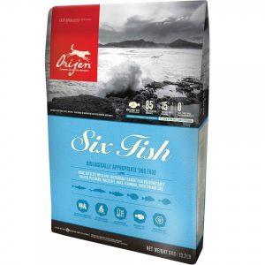 Orijen 6 Fish begrūdis sausas maistas šunims