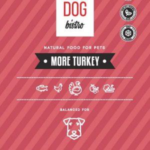 TOP DOG BISTRO MORE TURKEY PAPLOTĖLIAI