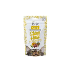 Brit Care skanėstas katėms su Shiny Hair 50g