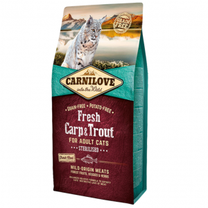 CARNI LOVE Fresh Carp&Trout Sterilised for Adult Cat Sterilised