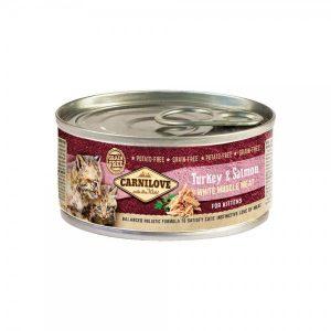 Carni Love konservai mažiems kačiukams Turkey&Salmon