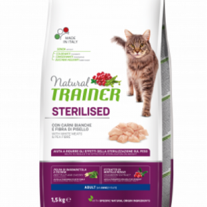 TRAINER NATURAL CAT ADULT STERILIZUOTOMS SU BALTA MĖSA