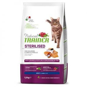 TRAINER NATURAL CAT ADULT SALMON STERILIZUOTOM SU LAŠIŠA