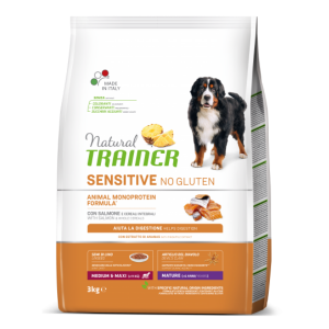 Trainer Sensitive Adult M/M No Gluten Maturity Senior su lašiša