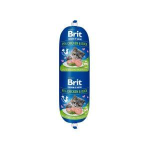 Brit Premium dešra katėms su vištiena, antiena ir žirneliais, 180g