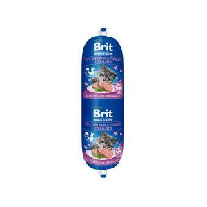 Brit Premium dešra katėms su vištiena, kalakutiena ir žirneliais, 180g