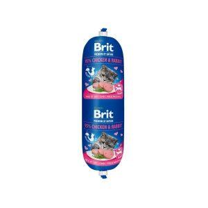 Brit Premium dešra katėms su vištiena, triušiena ir žirneliais, 180g
