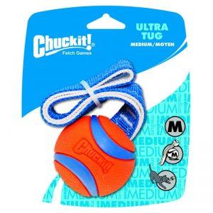 Chuckit! Ultra Tug kamuoliukas su virvute