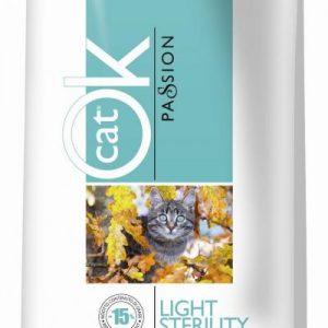 OK PASSION LIGHT STERILITY sausas maistas katėms – keičiasi į LIBRA sterilised