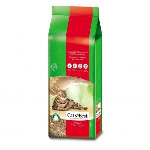 Cats Best OkoPlus Original Natūralus kraikas katėms – AKCIJA: 10L pakuotė + 20% didesnė