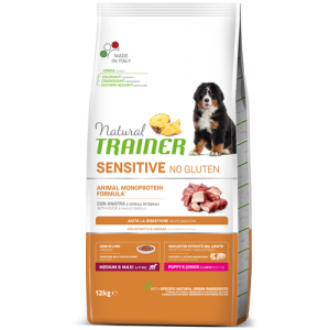 Trainer Sensitive PUPPY M/M No Gluten DUCK jauniems (Antiena)