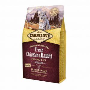 CARNI LOVE Fresh Chicken&Rabbit for Adult katėms