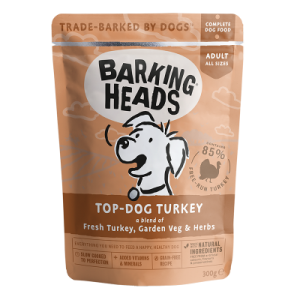 BARKING HEADS konservai Top – Dog Turkey 300g