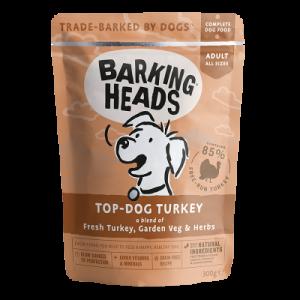 BARKING HEADS konservai Top – Dog Turkey 300g