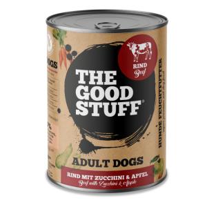 THE GOOD STUFF konservai šunims su jautiena ir cukinijomis