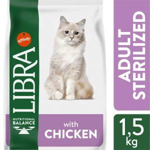 LIBRA CHICKEN sausas maistas sterilizuotoms katėms