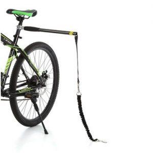 Įtaisas pririšti šunį prie dviračio