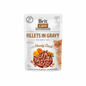 Brit Care Cat konservai katėms Fillets in Gravy Hearty Duck 85 g