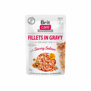 Brit Care Cat konservai katėms Fillets in Gravy Savory salmon 85 g