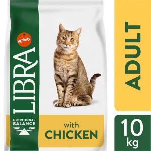 LIBRA CAT CHICKEN Pašaras Katėms Su Vištiena 10kg