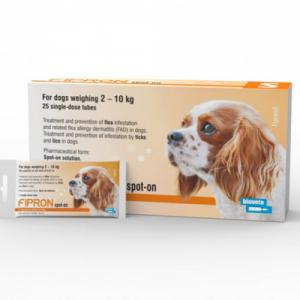 FIPRON 67mg užlašinamasis tirpalas šunims 2-10kg svorio nuo erkių ir blusų