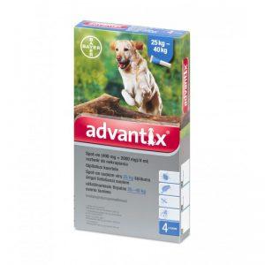 Advantix lašai šunims nuo erkių, blusų ir uodų (25-40kg)