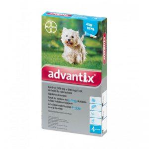Advantix lašai šunims nuo erkių, blusų ir uodų (4-10kg)