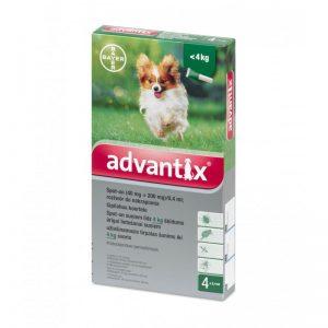 Advantix lašai šunims nuo erkių, blusų ir uodų iki 4kg