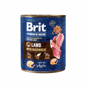 Brit Premium by Nature kons. šunims Lamb with Buckwheat